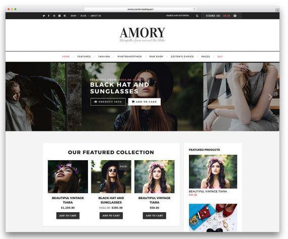 Amory - website thương mại điện tử thời trang