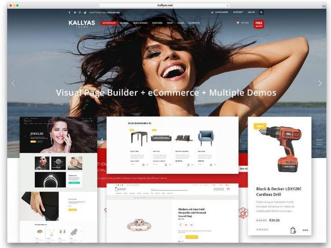 Kallyas - website thương mại điện tử