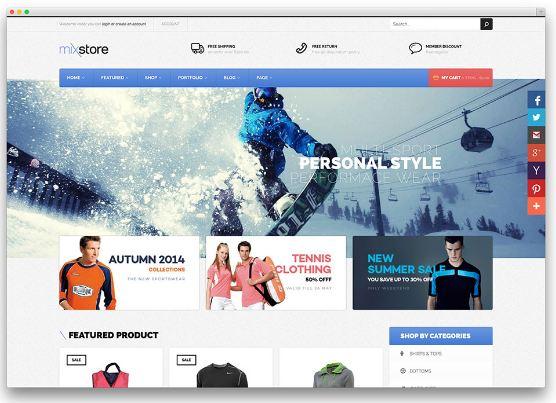 MixStore - website thương mại điện tử