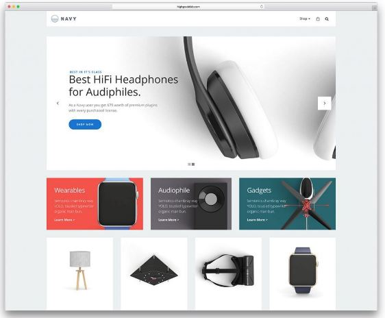 Navy - web thương mại điện tử vật dụng cá nhân