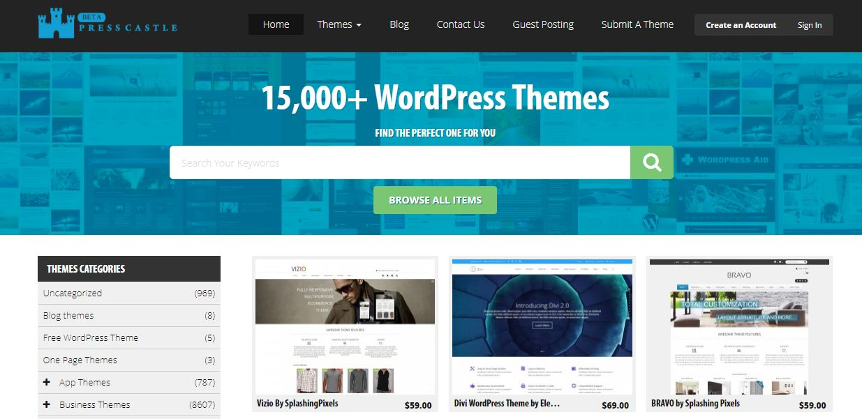 Press castle - địa chỉ bán theme wordpress