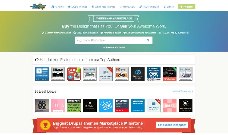 Theme snap - website bán giao diện wordpress
