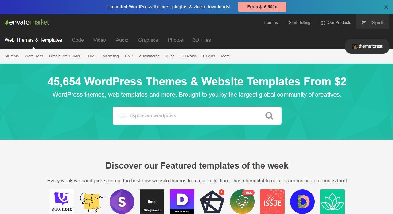 Themeforest địa chỉ bán theme wordpress hàng đầu