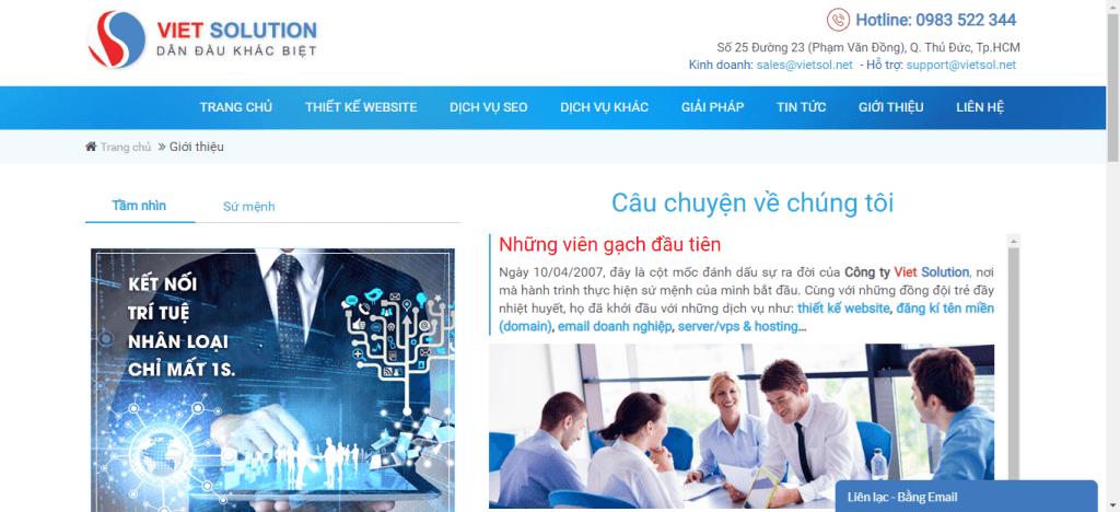 VietSol SEO công ty dịch vụ seo chuyên nghiệp