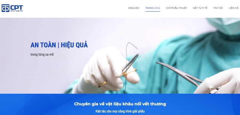 CPT Medical - website bán chỉ phẫu thuật uy tín nhất Việt Nam