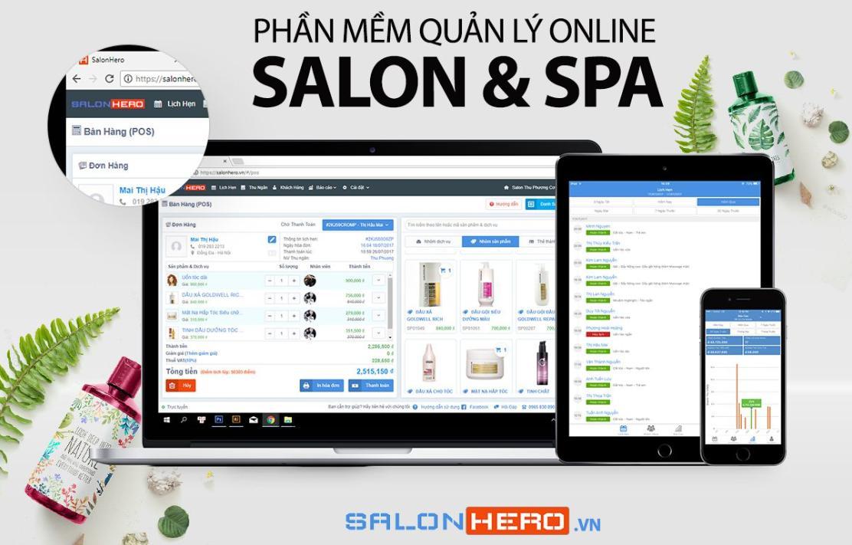 phần mềm quản lý Salon Hero