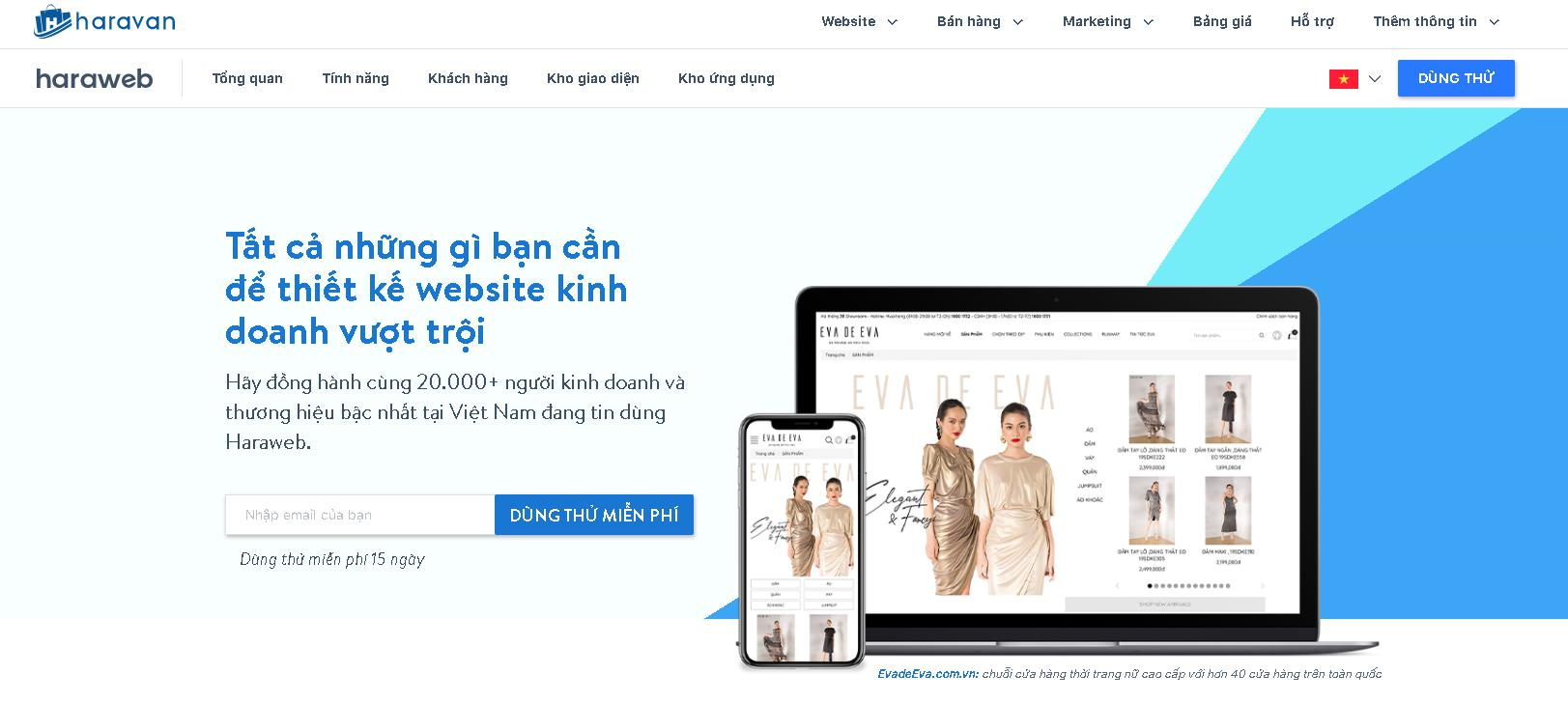 Dịch vụ lập trình website Haravan