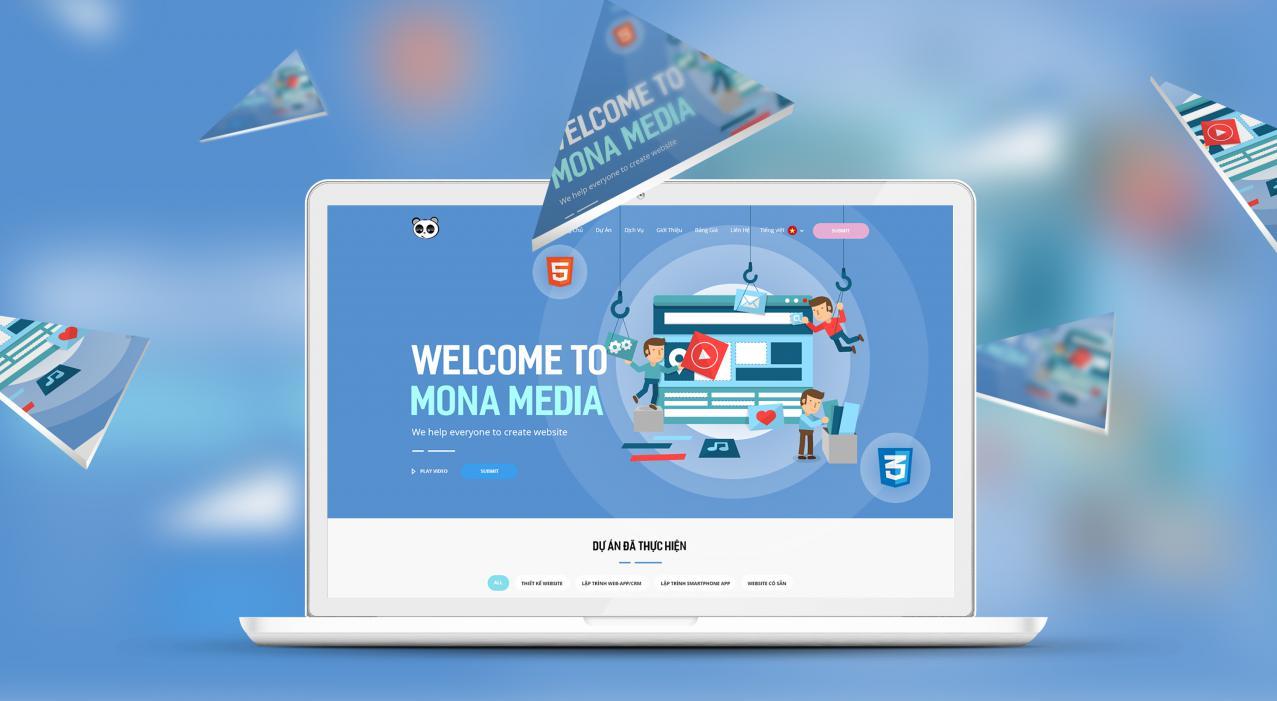 Công ty thiết kế website chuyên nghiệp Mona Media
