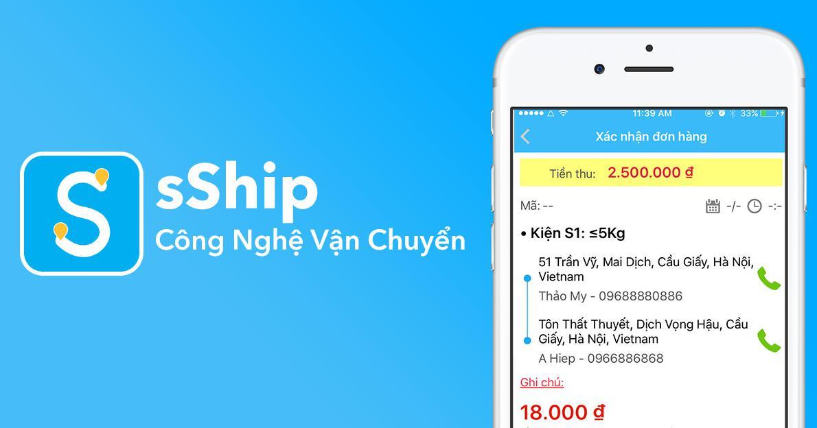sShip - công nghệ vận chuyển