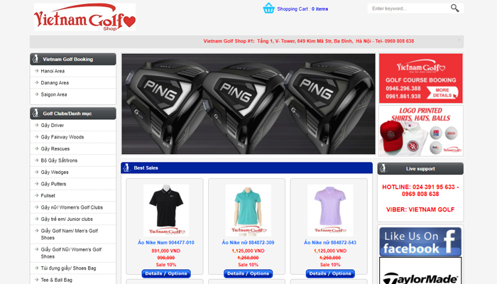 Phụ kiện đánh golf chuyên nghiệp - Golfshopvietnam.com