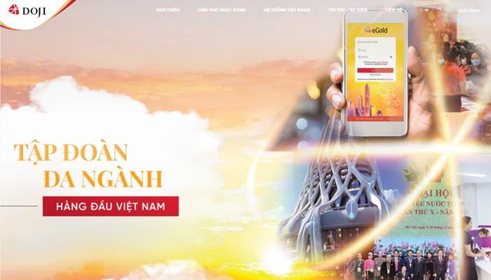 Trang web mua vàng miếng online - Doji