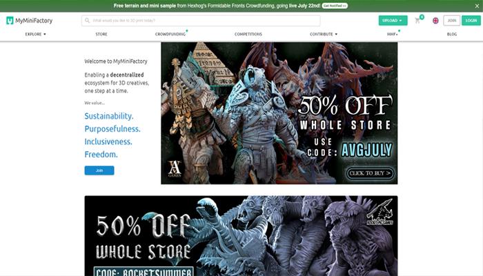 Trang web tải mô hình 3D lớn nhất - MyMiniFactory