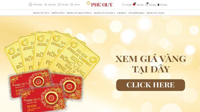 Trang mua bán vàng online uy tín nhất - Vàng Phú Quý