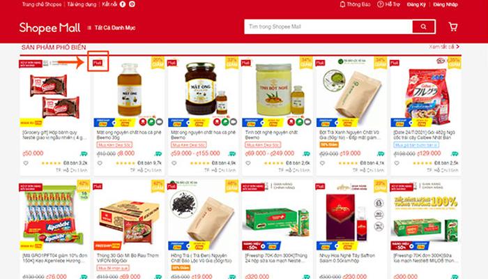 Trang web bán hàng trực tuyến - Shopee.vn