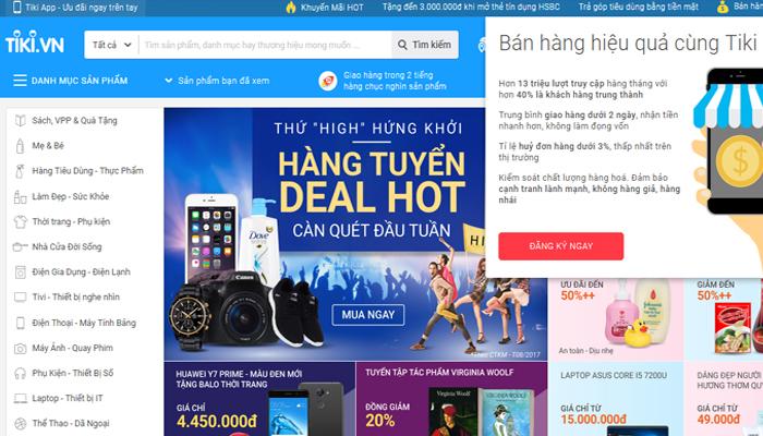 Web bán hàng online - Tiki.vn