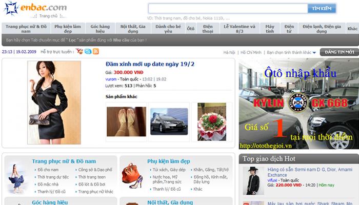 Website mua bán hàng trực tuyến - Enbac.com